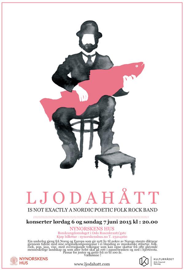 Ljodahått konserter lørdag 6 og søndag 7 juni 2015 kl: 20.00 - Nynorskens Hus - Oslo