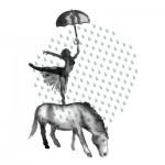 hestene står i regnet - the horses stand in the rain